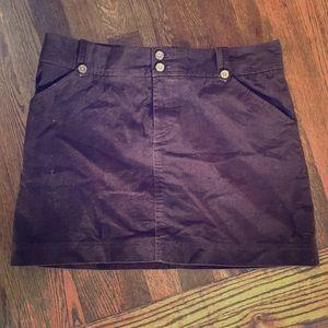 Lily Pulitzer brown Corduroy mini skirt size 6